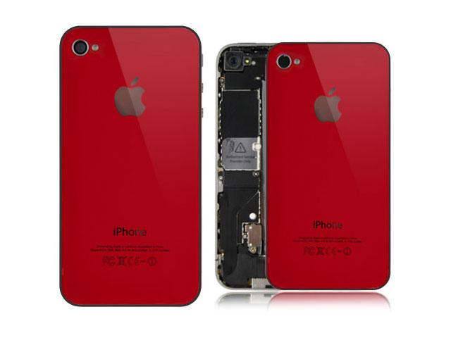 Задняя крышка iPhone 4S красный...