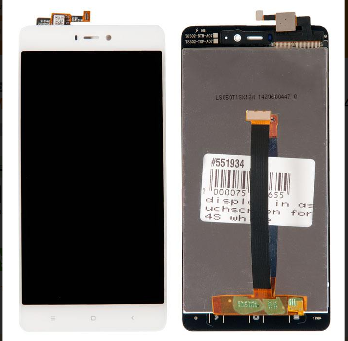 Дисплей Xiaomi Mi 4s в сборе с тачскрином (белый)