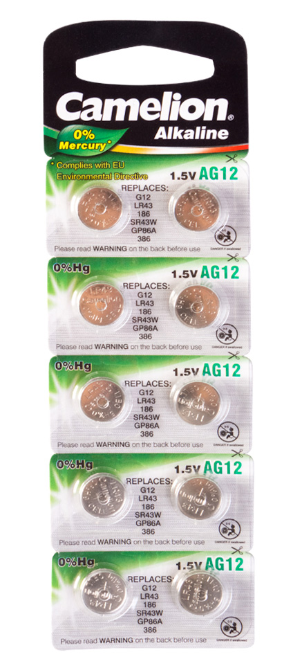 Батарейка Camelion AG12 LR43  /  LR1142  /  186  / ...
