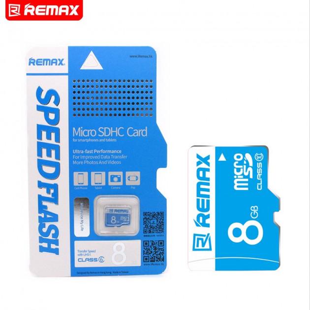 Карта памяти Remax micro SD 8Gb class 10 без...