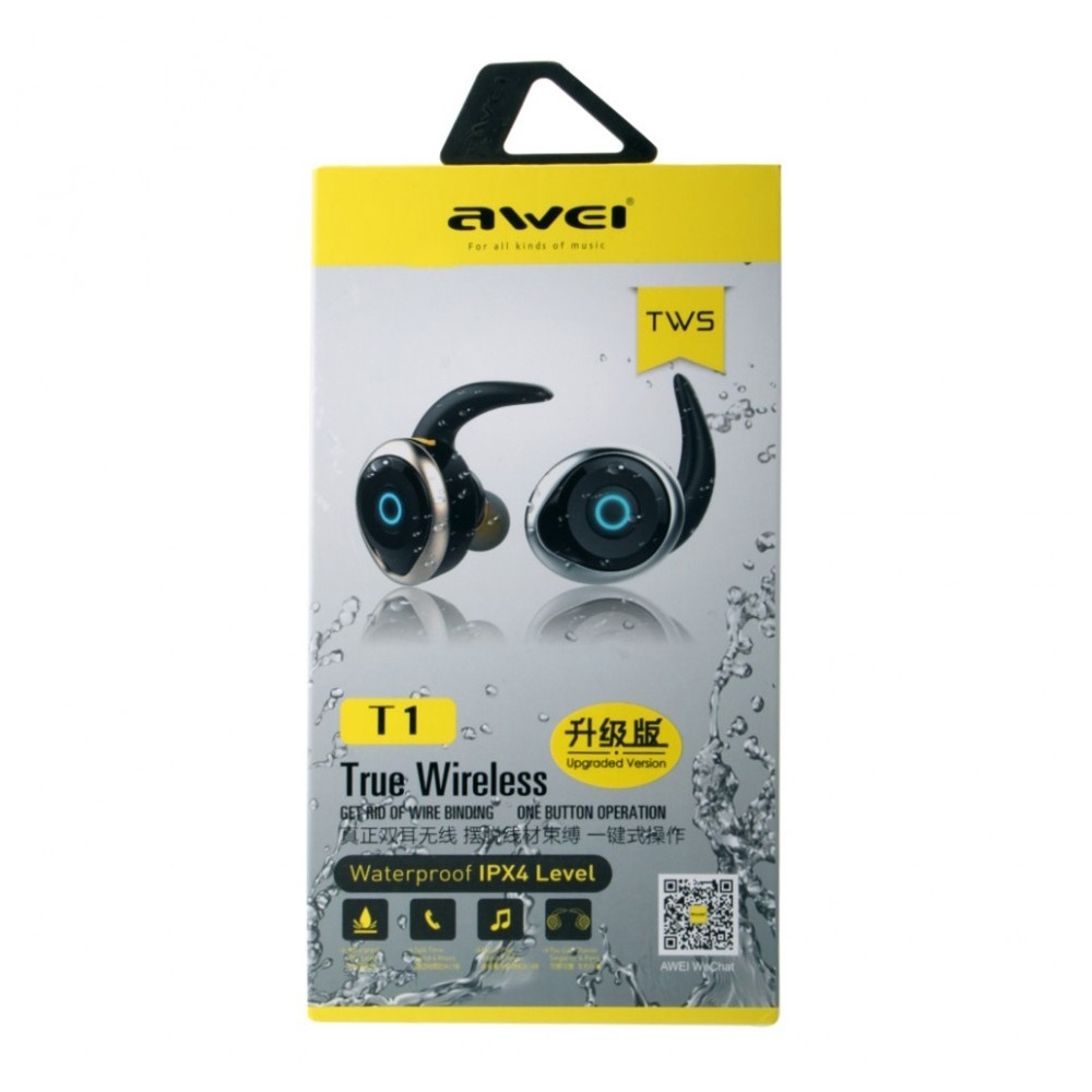 Bluetooth-гарнитурa Awei T1  черный...
