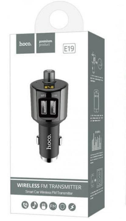 АЗУ + Bluetooth FM трансмиттер HOCO E19