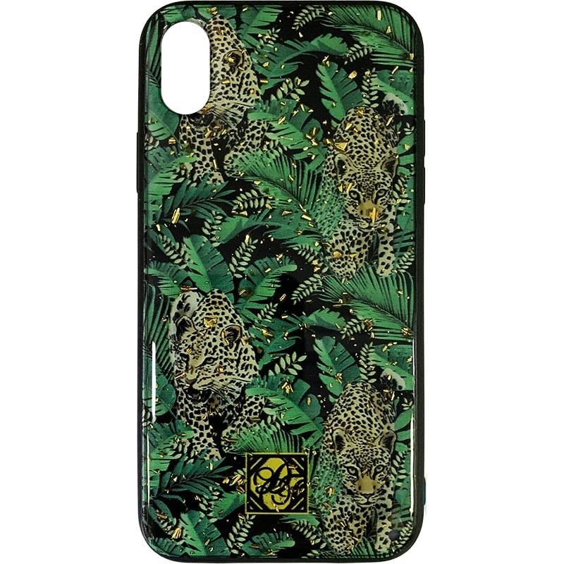 Чехол iPhone XR (силикон/леопард)