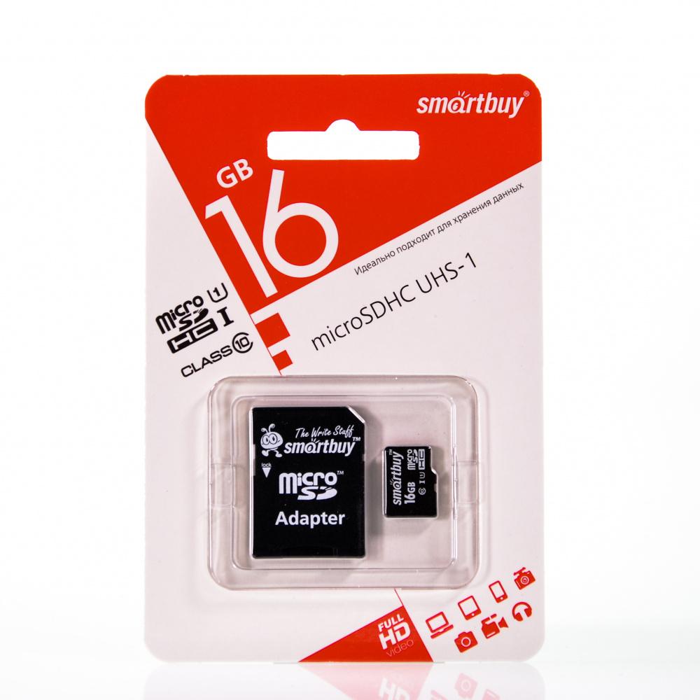 Карта памяти Smartbuy micro SD 16GB class 4 с...