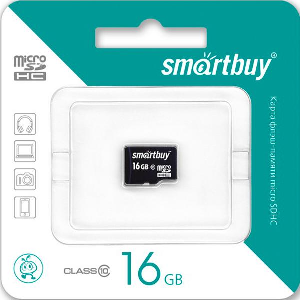 Карта памяти Smartbuy micro SD 16GB class 10...