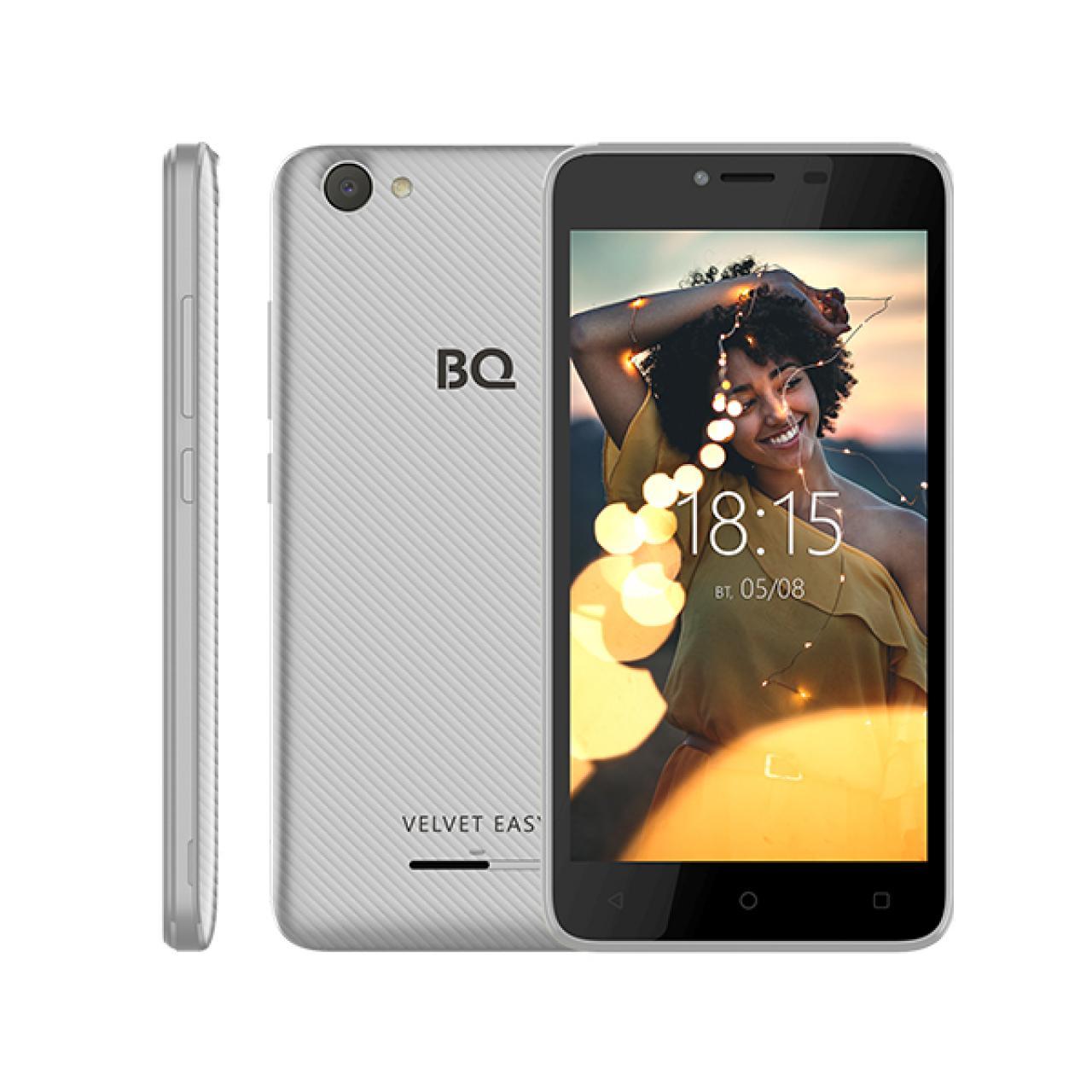 Смартфон BQ 5000G Velvet Easy 5 8Gb 2sim Silver...