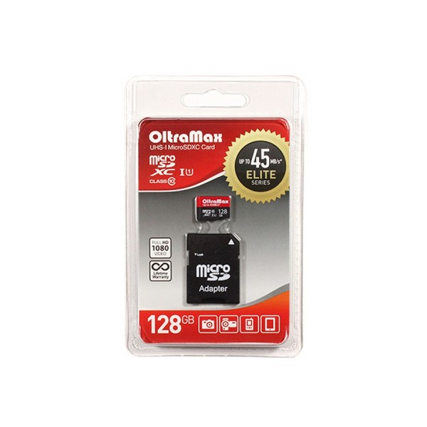 Карта памяти OltraMax micro SD 128Gb class 10 с...