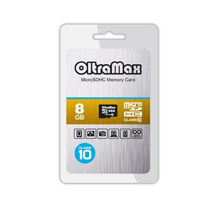 Карта памяти OltraMax micro SD 8Gb class 10 без...