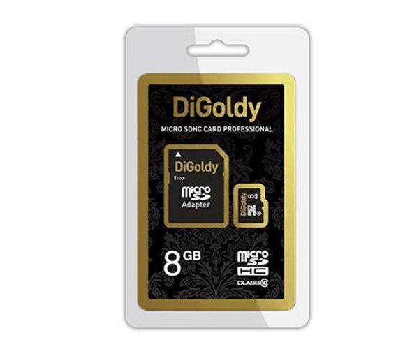 Карта памяти DiGoldy micro SD 8Gb class 10 с...