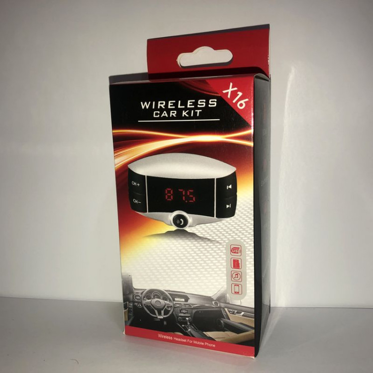 FM модулятор  X16 Wireless Car Kit...