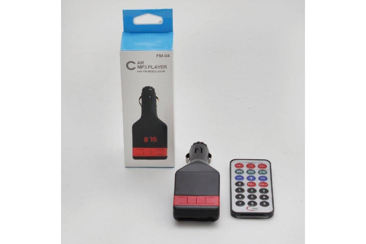 FM модулятор FM-04 Micro / TF / USB / пульт...